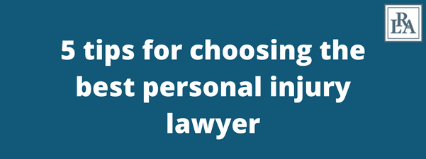 tips for choosing a personal injury lawyer Robert armstrong personal injury attorney north carolina